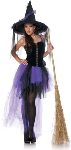 Black Magic Adult Purple Witch Costume Size:Large