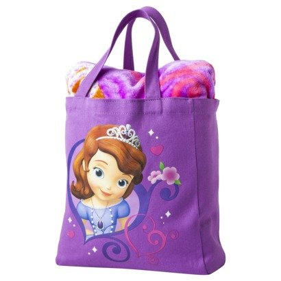 Disney Princess Sofia The First Throw Blanket And Canvas Tote Set front-90476
