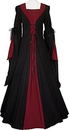dornbluth damen mittelalter kleid milienn schwarz amazon. Black Bedroom Furniture Sets. Home Design Ideas
