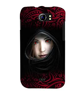 Fuson Red Eyes Girl Back Case Cover for MICROMAX CANVAS 2 PLUS A110 A110Q - D3925