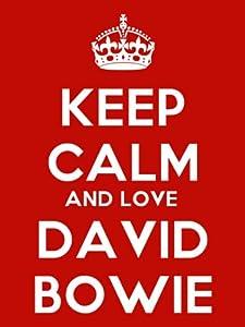 Keep Calm And Love David Bowie Keyring - 5cm x 3.5cm