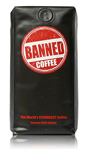 Banned Coffee | The Strongest Coffee in the world | Hyper Strong Caffeinated All Natural Ideal for Cold Brew | Our Best Medium Dark Roast (10 oz Ground) | Medium Dark Roast Ground Coffee 10 Ounces Bag (Coffee Bean French Brew Pods compare prices)