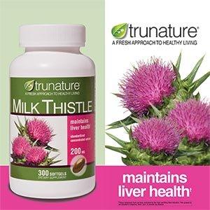 TruNature Milk Thistle 200 mg - 300 Softgels