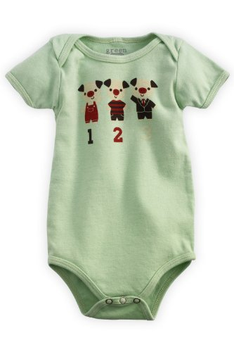 Green 3 Apparel 3 Little Pigs Organic Baby Playsuit,6-12 Months front-738092