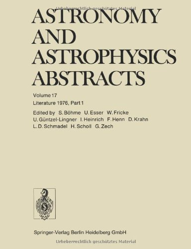Literature 1976, Part 1 (Astronomy And Astrophysics Abstracts) (Volume 17)