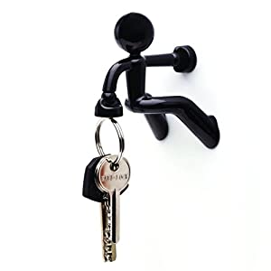Key Pete Strong Magnetic Key Holder Hook Rack Magnet - Black