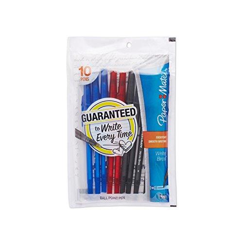 paper-mate-write-bros-stick-medium-tip-ballpoint-pens-10-colored-ink-pens73737