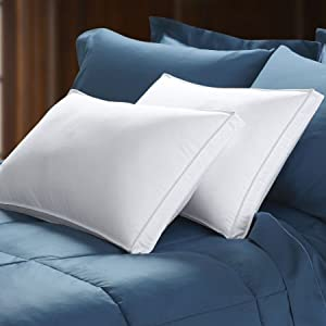800 Fill Power White Goose Down Gusseted Pillow Standard
