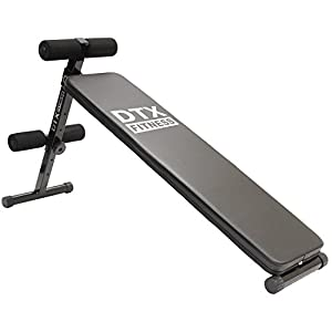 DTX Fitness Adjustable Height Folding Sit Up Bench