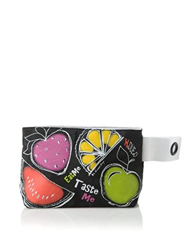 H.Due.O Necessaire Summertime Fruits Nero