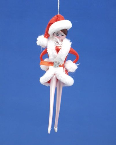 De Carlini Holiday Performance Rockette Girl Mouthblown Italian Glass Ornament