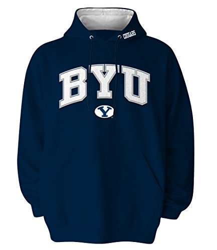 Ncaa Byu Cougars Hooded Sweatshirt, Navy, X-Large front-617392