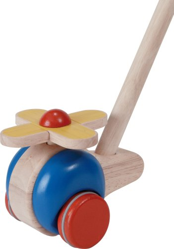 Plan Toys Planpreschool Push And Pull Helicopter Push Toy