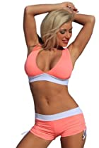 Coral Candy Slimsuit Sport Bikini Swimsuit Banded Halter top
