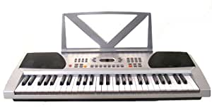 54 Keys Silver Keyboard Electronic Digital Piano
