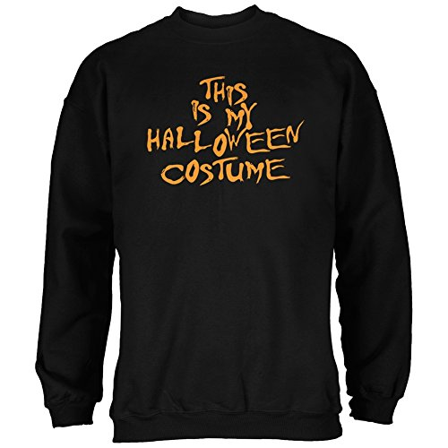 My Funny Cheap Halloween Costume Black Adult Sweatshirt