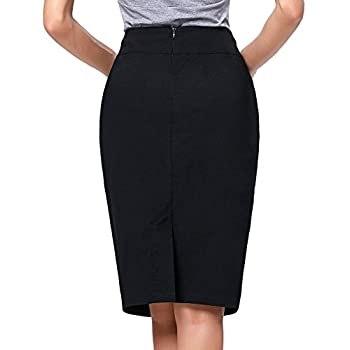 Kate Kasin®Women's Vintage Knee-Length Split Pencil Skirts