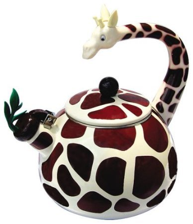 Home-X Giraffe Tea Kettle, 2.4 Quart Whistling Teakettle