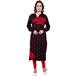 Diva Boutique Women's Woollen Kurti (brkw-03_Black_Large)
