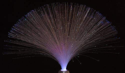 Trio LED Deko Tischleuchte  UFO  inkl. LED LM Adapter silberfarbig Höhe 38 cm