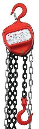 Vestil HCH Hand Chain Hoist, Hook Mount
