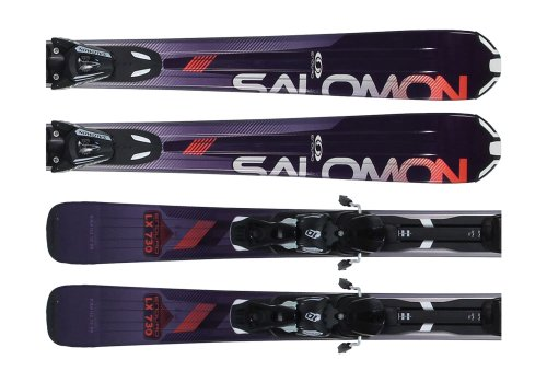 Salomon Enduro LX 730 Skis Black/Red w/ L10 Bindings B80 165cm