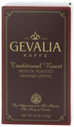Gevalia Traditional Roast Ground Coffee, 8-Ounce Packages (Pack of 3)