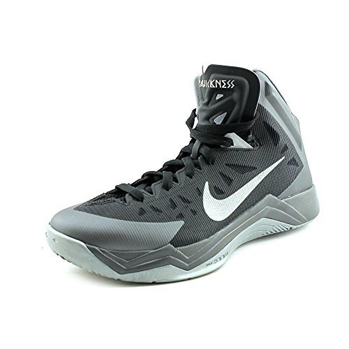 517a158941db Mens Nike Zoom Hyper Quickness Basketball Shoe Black Dark Grey Metallic  Silver Size 11