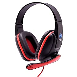 Zoook ZM-H703 Headphone with Mic (Red)