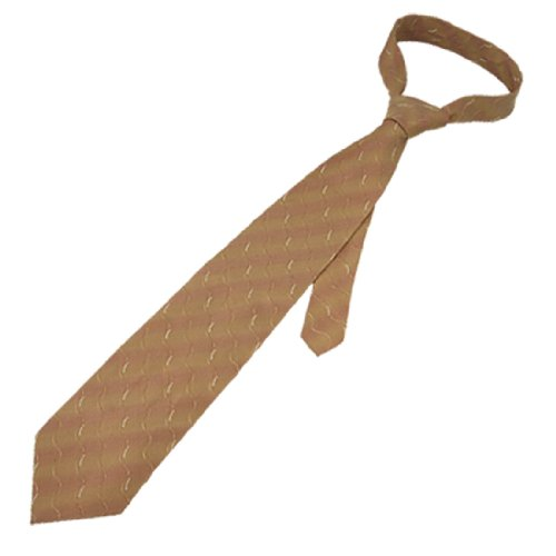 Rosallini Men Rosybrown Diagonal Stripes Wave Pattern Brown Necktie