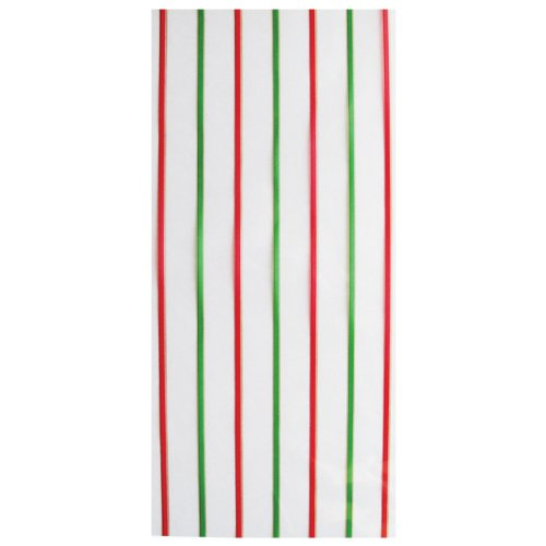 Jillson Roberts Large Christmas Cello Bags, Candy Line, 48-Count (XLC680)