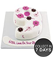 Flower Number Cake (Single Number)