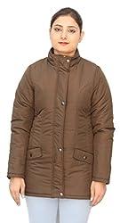 Romano Classy Brown Warm Winter Jacket for Women