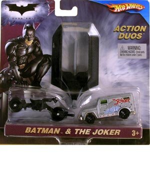 Hot Wheels Batman the Dark Knight Bat-Pod & the Joker Action Duos Diecast Car Set