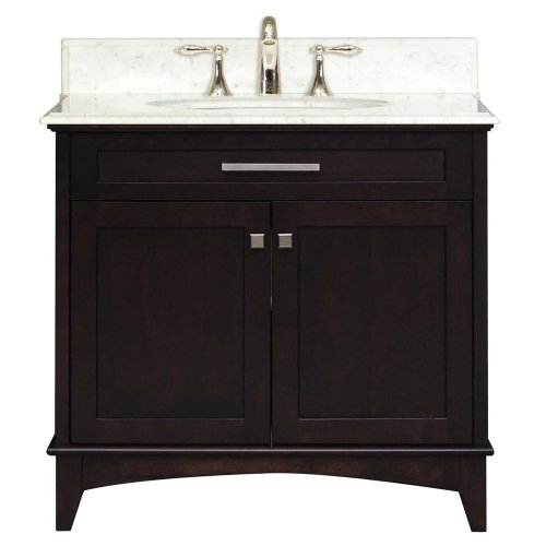 Water Creation Manhattan30 Manhattan Collection 30-Inch (31-Inch With Countertop) Single Sink Bathroom Vanity Set front-419953