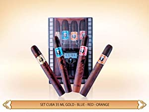 Cuba Gift Set 4 Pieces (City 4X35 ml. Hollywood, Miami, Las Vegas, York) Men By Cuba Parfum from Cuba Parfum