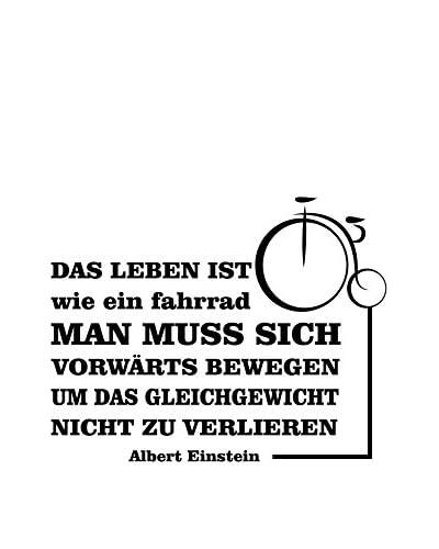 Ambiance Live Vinilo Decorativo Einstein German Quote Life Is Like A Bike Das Leben Ist Wie Ein Fahrrad