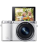 Samsung 3000 + 16 - 50mm Power Zoom Appareil Photo Numérique Compact 20.3 Mpix Wi-Fi Blanc