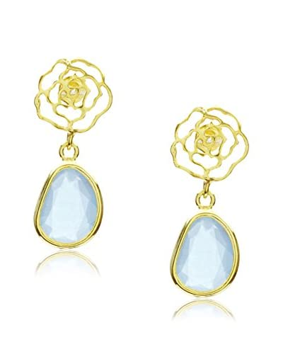 Córdoba Jewels Orecchini Rosa Calcedonio