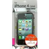 モバイルライフ iPhone4用ポリウレタンケース ブラック ML-IH4TC-BK