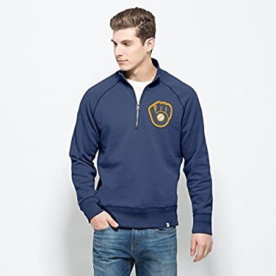 Milwaukee Brewers Booster Blue Men's ¼ Zip Pullover