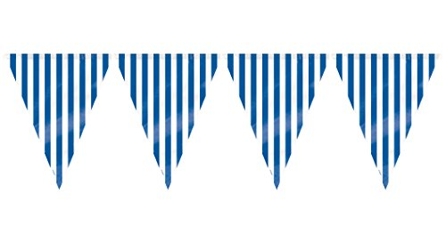 12ft Royal Blue Striped Flag Banner - 1