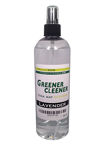 Natural LAVENDER Yoga Mat Cleaner 16 OUNCE Spray Wash Deodorize Disinfect Restore. SAFE FOR ALL MATS AND PROPS (Organic Yoga Mat Cleaner compare prices)