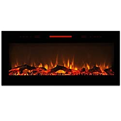 """Elite Flame 50"""" Fusion Log Built-in Smokeless Wall Mounted Electric Fireplace by Elite Flame"""