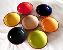 Spanish terracotta tableware