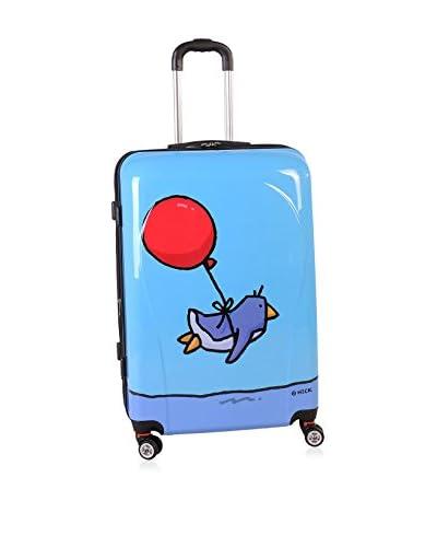 Ed Heck Flying Penguin 28″ Hardside Spinner Luggage, Sky Blue