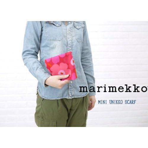 marimekko(マリメッコ) コットン ミニウニッコ柄 スカーフ・5263136711 F(フリー) レッド(74)