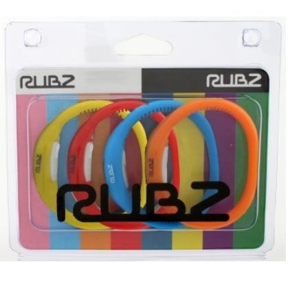 Rubz Classics Unisex Watch RUB005 (Pack Of 4 Silicon Band Watches Yellow, Red, Blue & Orange)