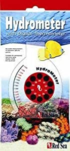Red Sea Fish Pharm ARE12010 Hydrometer with Digital Thermometer for Aquarium