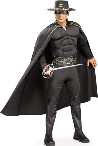Adult Halloween Costume Black Deluxe Zorro Outfit